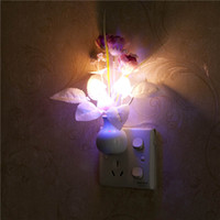 Fungo / sensore di luce rosa Home Bedroom Decoration 110V-220V US / EU plug Colorful Nightlights Luminaria LED Night Light Lampada