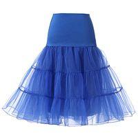 Kort brud petticoat crinoline vintage bröllop petticoat 2020 för bröllopsklänningar underskirt rockabilly tutu sten och ballett kjol