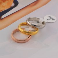 Top quality titanium steel silver rose gold love ring gold r...
