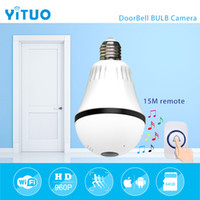 960P 1. 3mp 360 degree Bulb VR Panoramic Camera E27 LED Light...