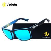 Viahda Yüksek Kaliteli Ayna Güneş Gözlükleri Erkek Sürüş Balıkçılık Açık Eyewears Aksesuarları Erkekler Için Güneş Gözlüğü
