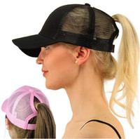 Ponytail Mesh sports Baseball Hats Hip pop women Caps Summer...