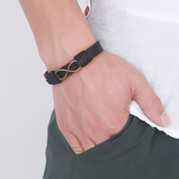 Bronze Infinitys Love Leather Bracelet in Brown for Mens Wom...