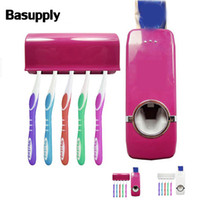 1set Automatic Toothpaste Dispenser Toothbrush Holder Wall M...