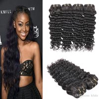 2016 indian hair for weaving grade 8a 3 bundles deep wave to...