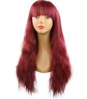 Explosion des modèles européens et américains perruques femmes cheveux perruque 25 pouces multi-couleur cheveux longs bouclés perruques synthétiques ensembles sacs à main Produits pour les cheveux