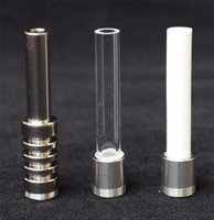 Thread Titanium Cuarz Tips de cerámica Uñas para paja Vaped Micro Vidrio Tuber V4 Kit GR2 Titanium Bird vs peine