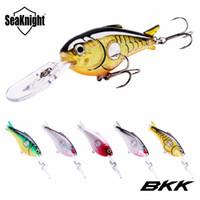 SeaKnight SK003 Crankbait 55mm 10g 1.8-3.9M 5 piezas señuelos de pesca dura Flotante Wobblers manivela cebo duro BKK ganchos Pesca de la carpa marina agua salada