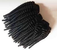 Cheveux vierges brésiliens afro-américains tisse sexy court 6-12inch Kinky cheveux bouclés trame pas cher prix Extensions de cheveux remy indiens européens