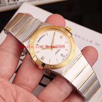 Relógios de pulso de alta qualidade de luxo constelação 38mm diamante fronteira 18k Rose Gold Swiss ETA 8500 relógios mecânicos automáticos das senhoras das mulheres