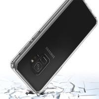 لسامسونج غالاكسي S9 PLUS الدليل على الصدمة شفافة درع القضية لسامسونج غالاكسي A8 2018 A5 2018 TPU + PC حالة الهاتف المحمول