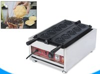 Sakura machine à gaufres commerciale électrique en forme de fleur gaufrier muffin gâteau machine sakura yaki gâteau four LLFA