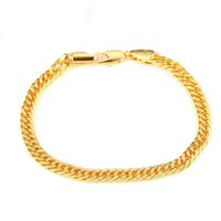 (313B) ( 18 cm x 4. 8 mm ) Chain Bracelet Jewelry For Women M...