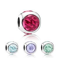Forma rotonda con perle di cristallo strass fascino tallone grande moda donna gioielli stile europeo per collana braccialetto fai da te nuovo arrivo