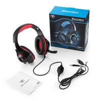 Beexcellent GM-1 سماعات الألعاب سماعات ستيريو الألعاب عزل الضوضاء مع الصمام الخفيفة باس المحيطي ميكروفون USB 3.5 مم السلكية ل PS4 XBOX