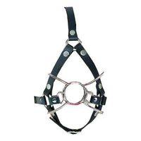 Cinghia regolabile in pelle PU O-ring Bocca aperta Gag imbracatura Spider Restraint # T78
