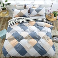 Simple Plaid Cartoon Bedding Sets Animals Elegant and Comfor...