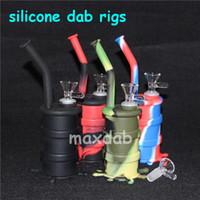 Waterpipe Nargile Silikon DAB Rigs Konteyner Nektar Toplayıcı Bisbler Sigara İçme Dery Herb Bong