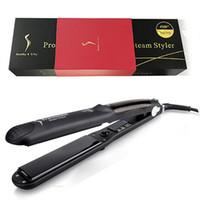 Kangroad Hair Spreakener Щетка для волос Щерлинг железо 2 в 1 Профессиональные волосы железо салон Паровый стилер Керлинг утюги