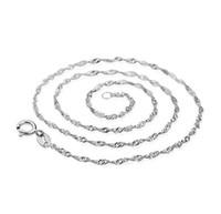 2016 collana in argento 925 modelli femminili della catena dell'onda di gioielli di fascia alta delle donne, gioielli d'argento top 45CM d'argento