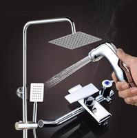 새 4 기어 스프레이 총 샤워 세트 높은 품질 전체 황동 비 가정 욕실 수도 꼭지 숨겨진 샤워 세트를 공급