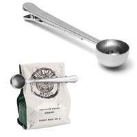 Colher De Café De Aço Inoxidável Multifuncional Com Clipe De Medição De Colher De Chão De Café Chá Colher De Medição de Sliver