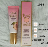 Dropshipping Hot Make-up Foundation Peach perfekter Komfort Matte Foundation 3colors 48ml Gesichtscreme Foundation