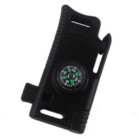 4 Farben Kunststoff Paracord Schnalle gelten für Outdoor Survival Camping Notfall mit Kompass Whistle Messer Paracord Schnalle