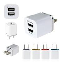 Dual USB carregador de parede Para Samsung S8 Nota 8 carregador de parede plugue 5V 2.1A de Metal Adaptador de viagem US UE Power Adapter AC