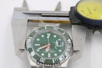 럭셔리 GMT II 116710 Mens 스테인레스 스틸 팔찌 세라믹 그린 베젤 블랙 다이얼 40mm 2813 기계적 남성 시계 새로운 도착