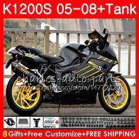 Corpo amarelo preto para OEM K1200 S K 1200 S 05 10 K1200S 05 06 07 08 09 10 103HM.7 K-1200S K 1200S 2005 2006 2007 2008 2009 2010 Kit de justo
