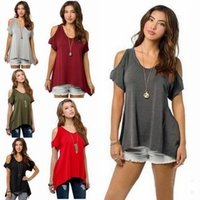 Plus Size S- 5XL Brand clothing summer V pure cotton short sl...