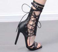 2018 velocità per vendere commercio estero nuove scarpe col tacco alto di grandi dimensioni con fibbia ad alta moda stivali freddi stivali moda romana donne sexy