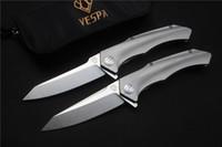 VESPA Coltello pieghevole tattico 100% S35VN lama Titanio Manico campeggio coltelli da caccia sopravvivenza esterna strumenti EDC coltello da tasca