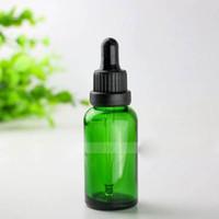 Schnelles Verschiffen 440pcs 30ml Grün Glas Tropfflasche, 30 ml Grüne Glasflasche mit Schwarz, Silber, Gold Caps, 1OZ Glass Kosmetik-Flaschen