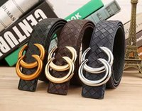 Hot new designer belts men women high quality double buckle ...