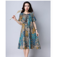 Long Sleeve Dress spring summer Fashion Short sleeve women d...