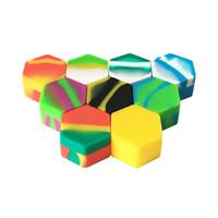 2017 Силиконовый воск банку антипригарным 26 мл Dab Concentarte контейнер с шестигранной формы смешанный цвет 100 шт. / лот