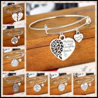 18 Styles Alloy Charm Bangle Bracelets THANK YOU&BEST Tree o...