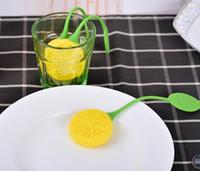 Frete grátis 100 pcs Strainers Tea Tea Coador de Chá De Folha De Chá De Silicone Infusor Para Limão Morango Filtro Teacup Bule de Café Filtro Cesta