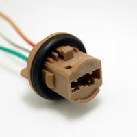도매 자동차 7443 / T20 / W21 / 5W / W3x16Q LED 전구 브레이크 신호 조명 소켓 하네스 플러그 커넥터 # 3817