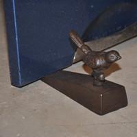 2 piezas de época de hierro fundido Puerta Bird Cuña de cierre Tope de puerta artesanales de metal Home Hotel Bar Pub decoración tapón de la puerta de la vendimia titular del ornamento rural