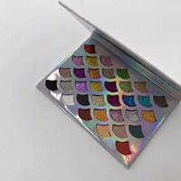 YENI Güzellik Cleof Kozmetik Mermaid Glitter ve mat 32 renk Göz farı Prizma Paleti Göz Makyajı Göz Farı Paleti