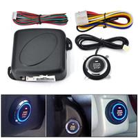 10 adet / grup Araba bir START STOP Motor sistemi start-stop düğmesi ile push button anahtarsız giriş sistemi araba alarmı uzaktan motor çalıştırma düğmesi