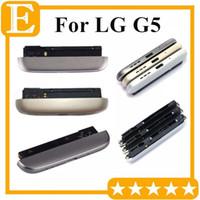 Couvercle inférieur pour LG G5 H850 H860 H840 Partie inférieure du boîtier Haut-parleur Sonnerie Port de charge USB Module de câble modulaire de remplacement DHL