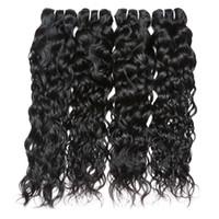 8a البرازيلي موجة الطبيعية العذراء الشعر نسج 4 حزم 8a 100٪ غير المجهزة الإنسان لحمة الشعر ملحقات اللون الطبيعي 95-100 جرام / قطعة
