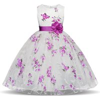 New Summer Flower Girl Dress Ball Gowns Abiti per bambini per ragazze Party Princess Girl Clothes per 3 4 5 6 7 8 Year Year Dress