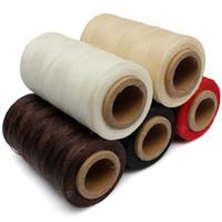 5 pçs / set Durable 240 Metros 1mm 150D Couro Encerado Cabo de Fio para Artesanato DIY Ferramenta Mão Costura Costura de Costura de Fios