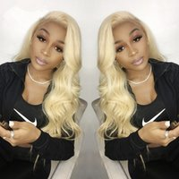 613 Human Hair Full Lace Wigs Blonde Body Wave Lace Front Wi...