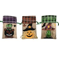 2018 Halloween gift handBags Party decoration Linen pumpkin ...